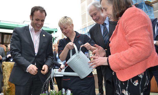 Dementia friendly garden at Yeovil Hospital