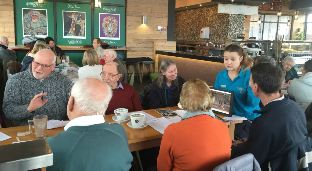 Dementia friendly coffee mornings at Chester Zoo